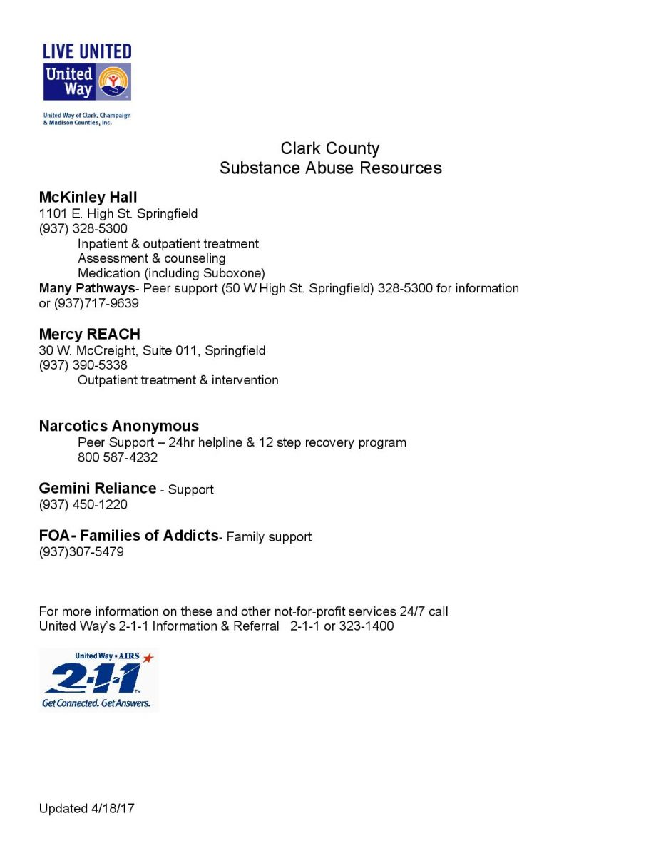 Clark County Substance Abuse Resources