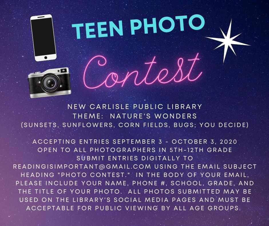 Flyer for Teen Photography Contest