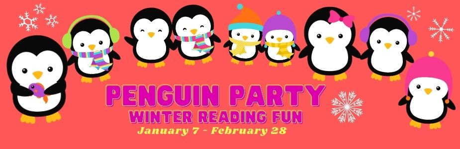Advertisement for Winter Reading program for Kids & Teens.  Call 937-845-3601 for more information.